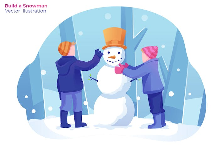 Thumbnail for Build a Snowman - Vector Illustration