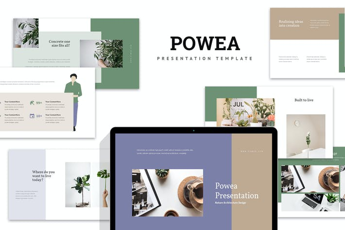 Thumbnail for Powea : Eco Style Business Powerpoint