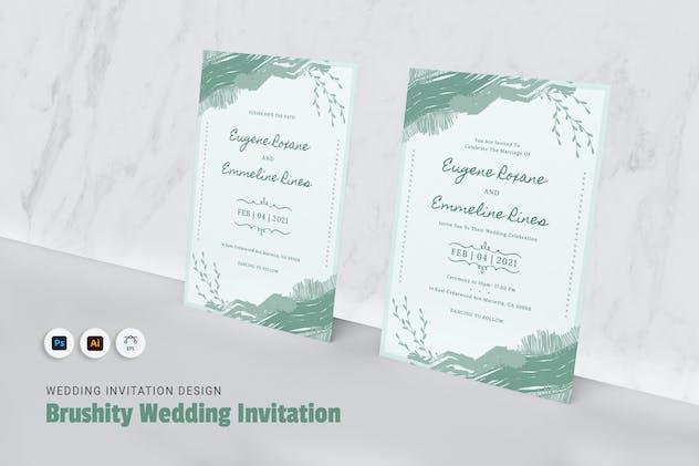Brushity Wedding Invitation
