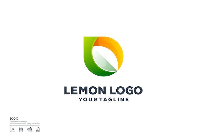 Lemon color logo design