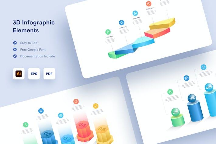 3D Business Infographic - Muzitemp