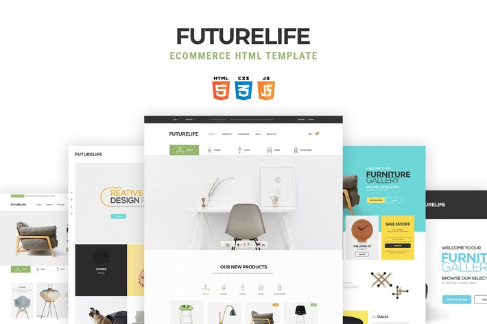 Thumbnail for Futurelife | eCommerce HTML Template
