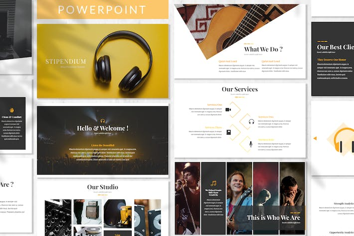 Thumbnail for Stipendium - Music Powerpoint Template