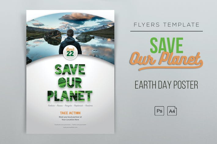Thumbnail for Earth Day Flyer Template