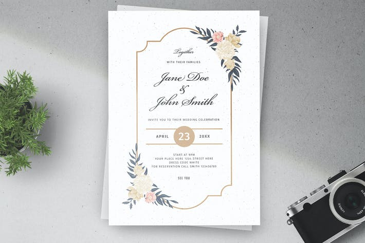 Cover Image For Floral Wedding Invitations