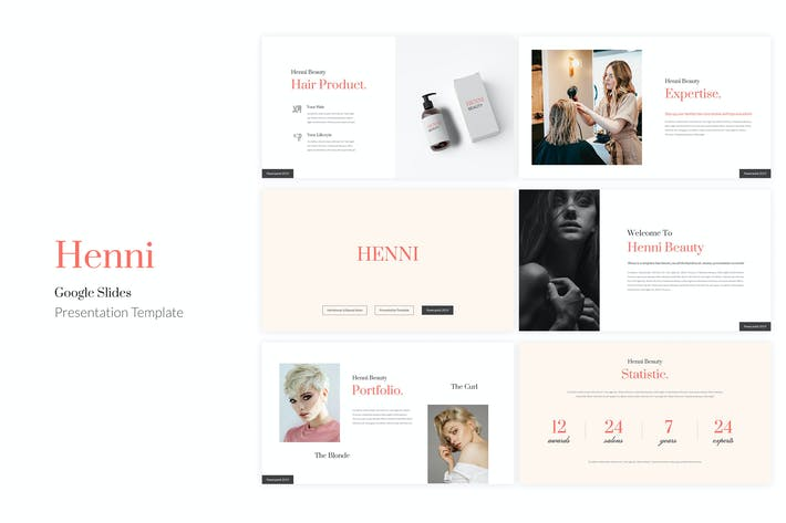 Thumbnail for Henni - Beauty Salon Google Slides Template