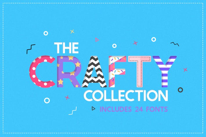 Thumbnail for The Crafty Font Collection (24 Fonts)