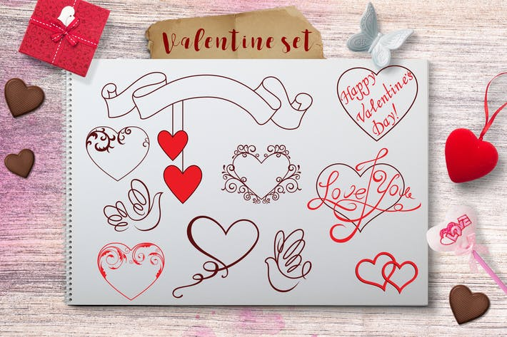 Thumbnail for Valentine's Day Design Elements