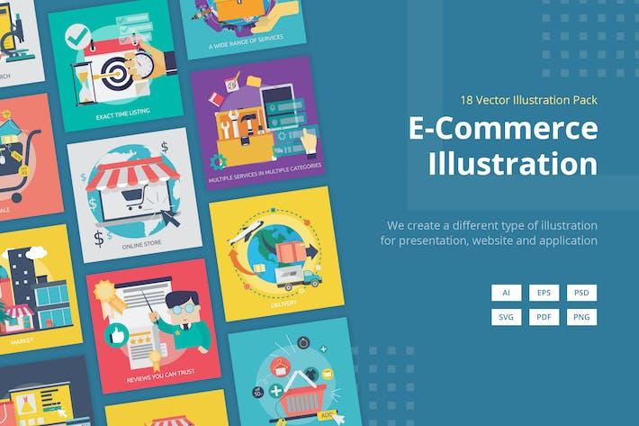Thumbnail for Вектор иллюстрация электронной коммерции