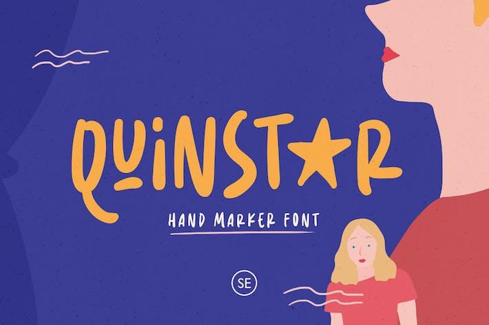 Thumbnail for Quinstar - Hand Marker Font