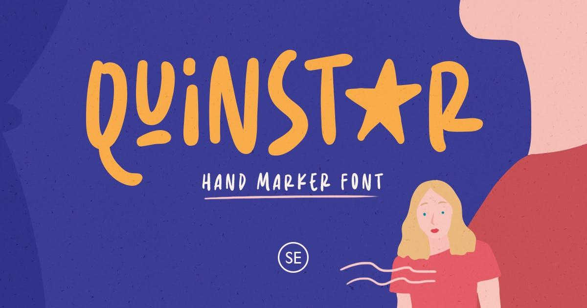 Download Quinstar - Hand Marker Font by saridezra