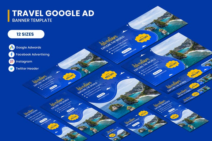 Thumbnail for Travel Google AD Template
