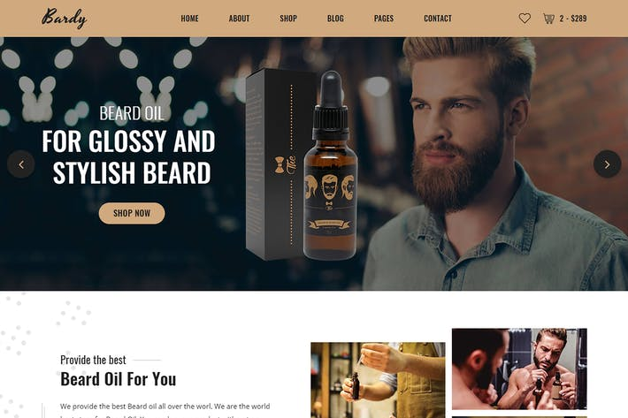 Thumbnail for Bardy - Beard Oil eCommerce Bootstrap 4 template