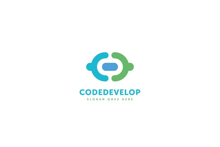 Thumbnail for Code Develop Logo C D Letter Template