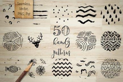 50 Handy Patterns. Vector, PNG, PAT