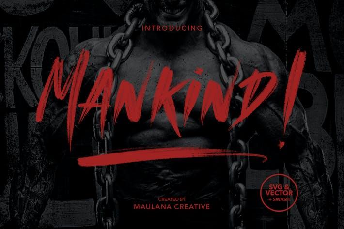 Cover Image For MANKIND - SVG Brush Font