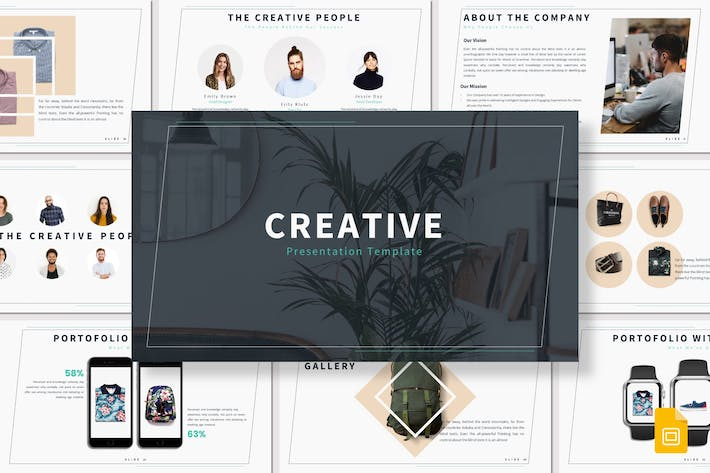 Cover Image For Creative - Google Slides Template