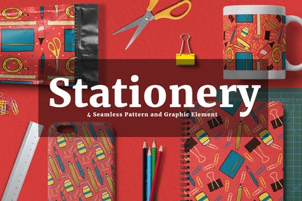Stationery Seamless Muster und Grafikelement
