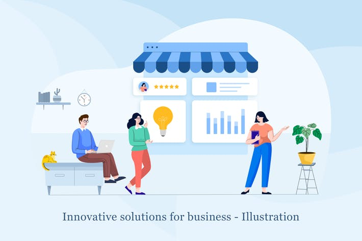 Thumbnail for Innovative solutions for business Illustration