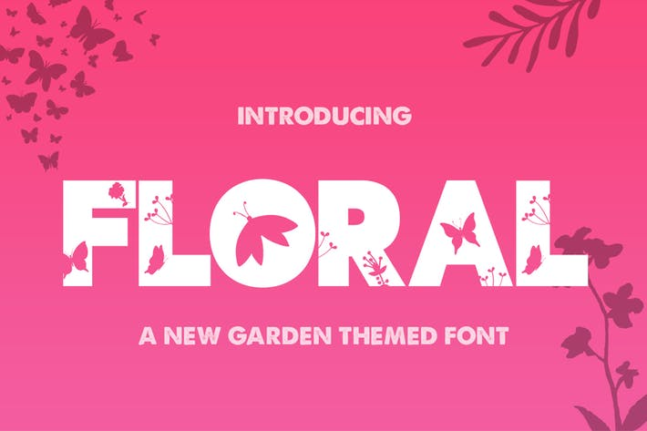 Thumbnail for The Floral Font