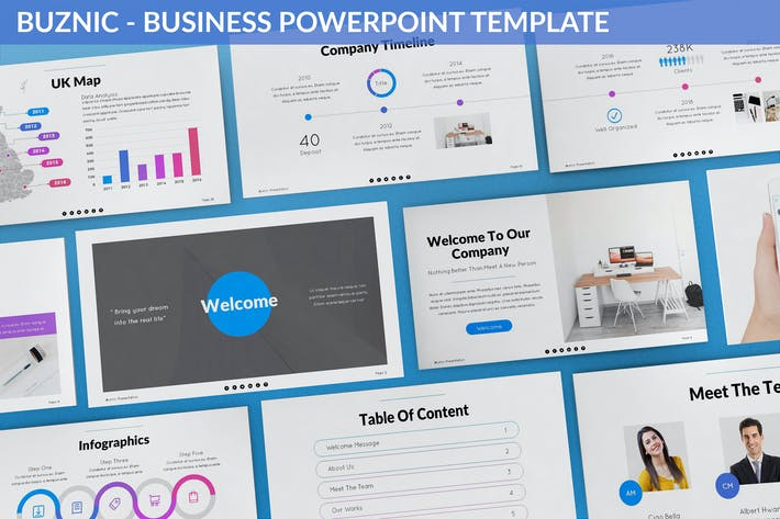Thumbnail for Buznic - Business Powerpoint Template