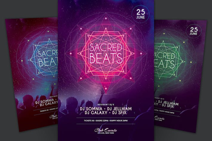 Cover Image For Sacred Beats Flyer