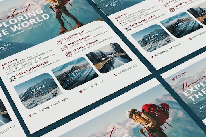 Thumbnail for Шаблон постер PSD для путешествий