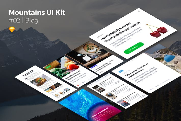 Thumbnail for Mountains UI Kits | Blog