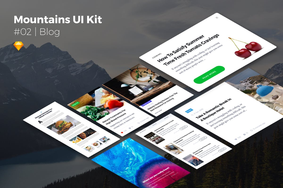 Download Mountains UI Kits | Blog by CreativesCastle by Unknow