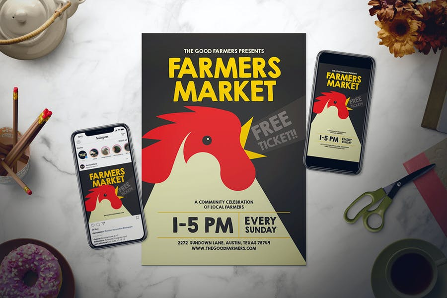 Farmers Market Flyer Set