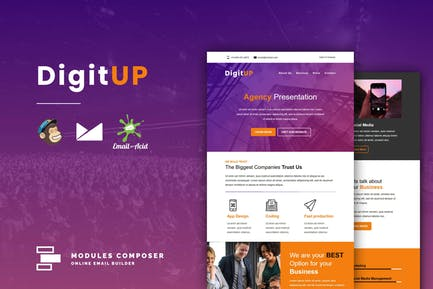 DigitUP - Responsive Email Template for Startups