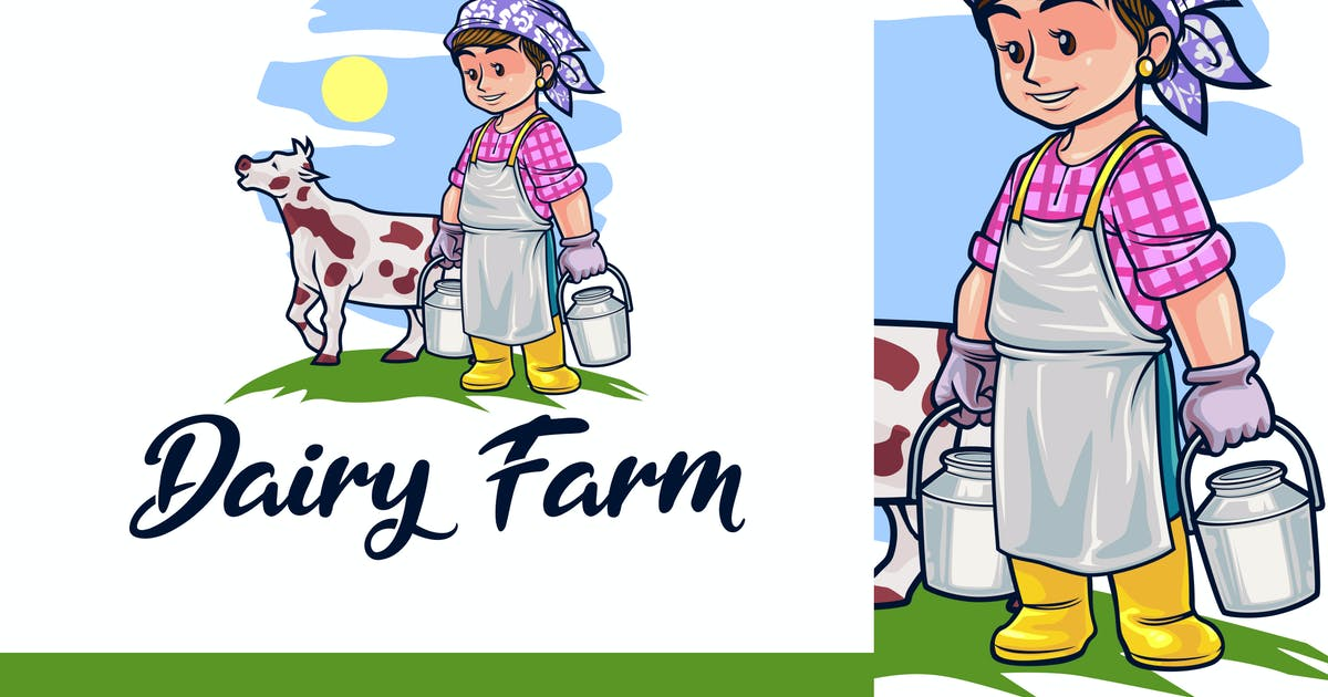 Download Cartoon Dairy Farm & Livestock Logo by Suhandi