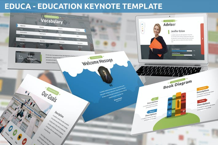 Thumbnail for Educa - Education Keynote Template