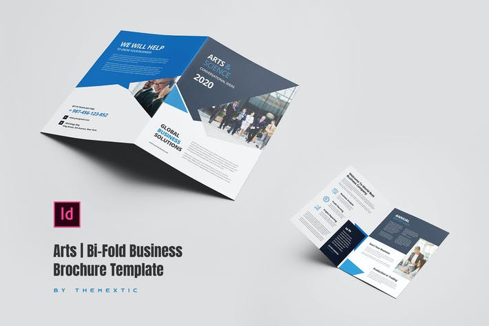 Thumbnail for Art | Bi-Fold Business Brochure Template