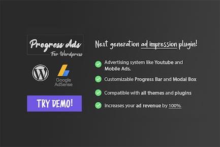 Progress Ads - WordPress Adsense & Banner Plugin