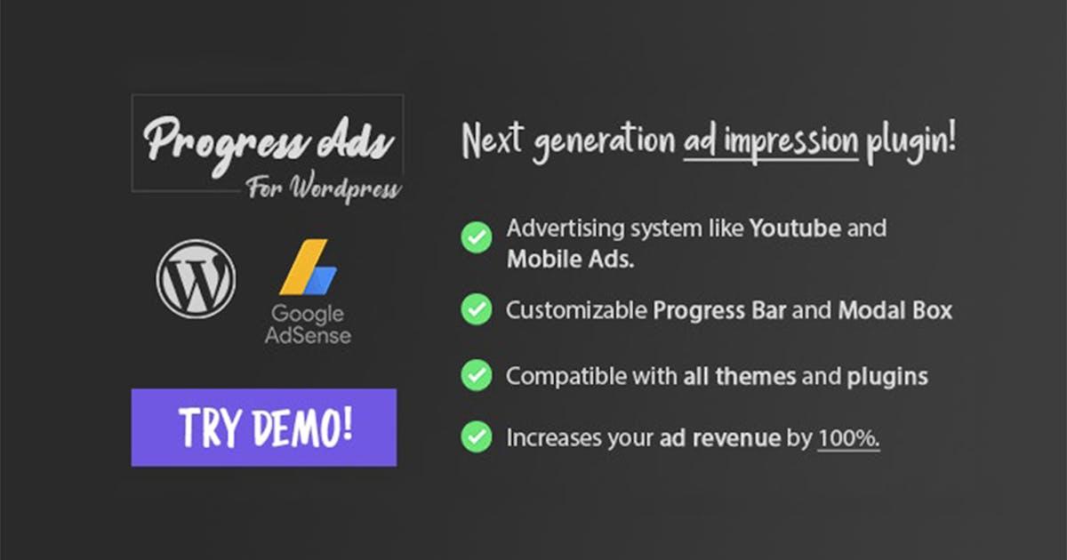 Download Progress Ads - WordPress Skippable Ads Plugin by divcoderPlugins