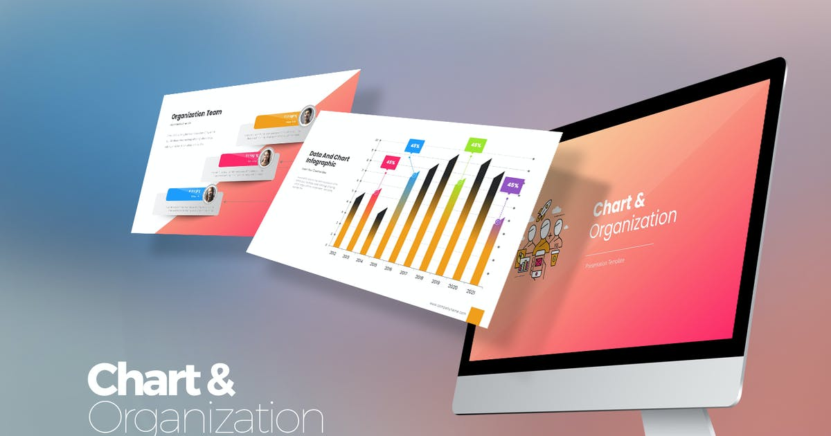 Download Chart & Organization Keynote Templates by StockShape