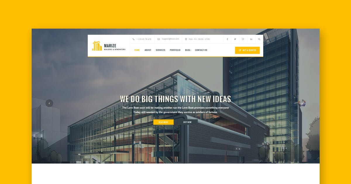 Download Marize - Construction & Building HTML Template by PremiumLayers