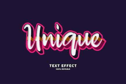 Unique text effect
