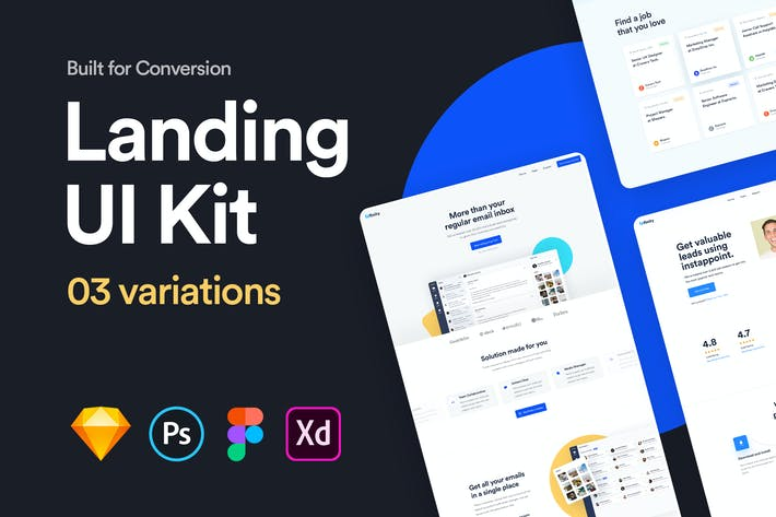 Thumbnail for Landing UI Kit 01