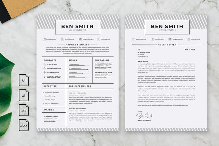 Thumbnail for Professional CV And Resume Template Ben