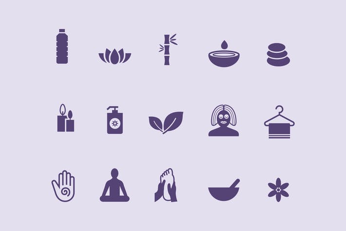 Thumbnail for 15 Massage and Yoga Icons