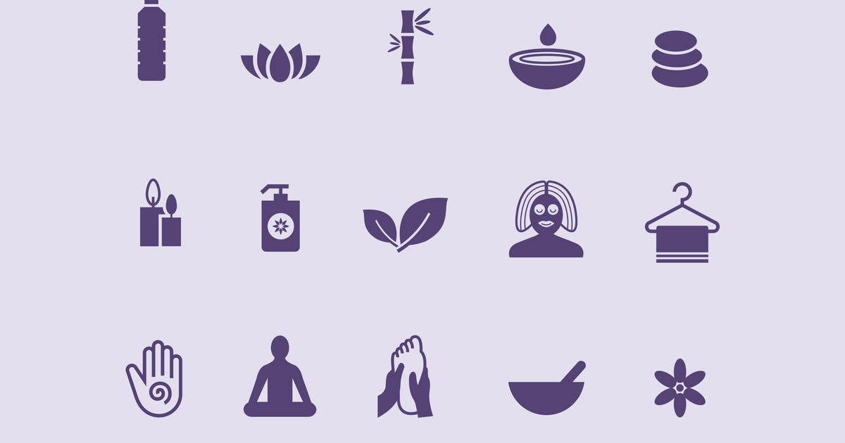 Download 15 Massage and Yoga Icons by creativevip