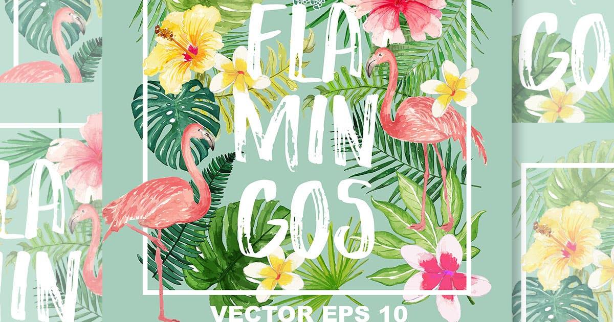 Download Flamingos design Vector by designloverstudio