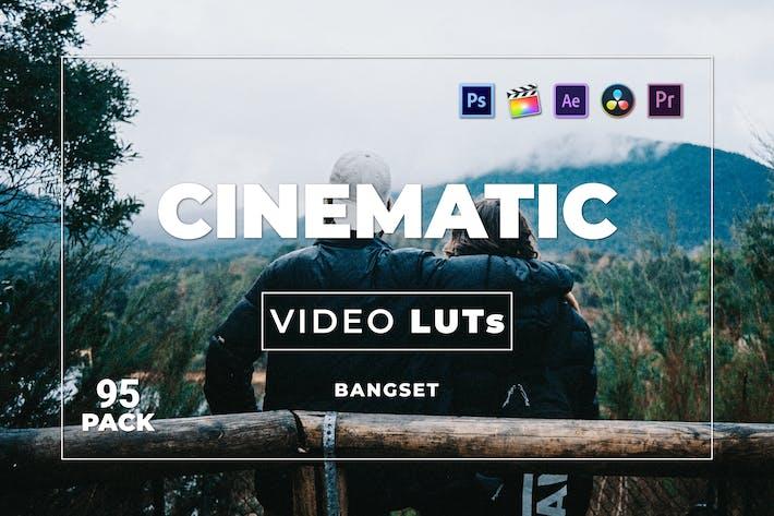 Набор кинематографических материалов Bangset 95 Видео LUTs