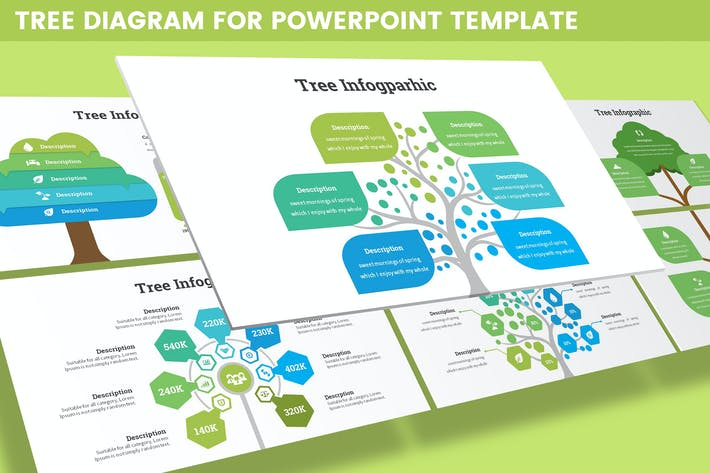 Tree Diagram for Powerpoint Template