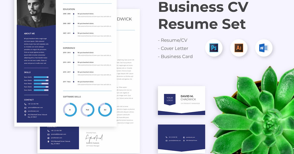 CV Resume UX Manager by spacestudios on Envato Elements