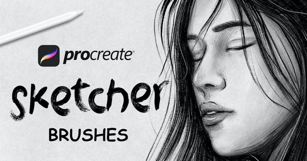 Download Sketcher Brushes -  Procreate Brush by Streakside