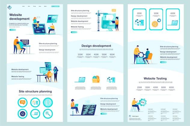 Development Website Template Landing Page