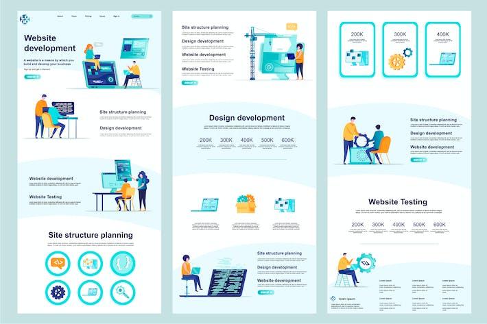 Entwicklung Website Vorlage Landingpage